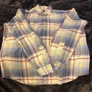 Ralph Lauren Long Sleeve Plaid Button Up Shirt